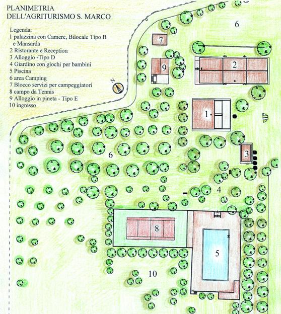 Azienda agrituristica camping san marco loc san marco for Planimetrie da 4000 piedi quadrati